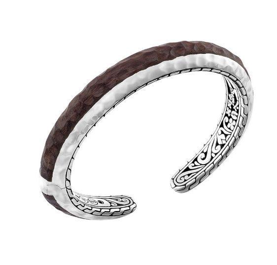 John Hardy Sterling Silver Rosewood Cuff Bracelet NWT $995.00 #JohnHardy #Cuff