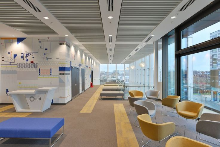 National Biologics Manufacturing Centre, Darlington, Armstrong Sufity Podwieszane, suspended ceiling, acoustic, sufit akustyczny