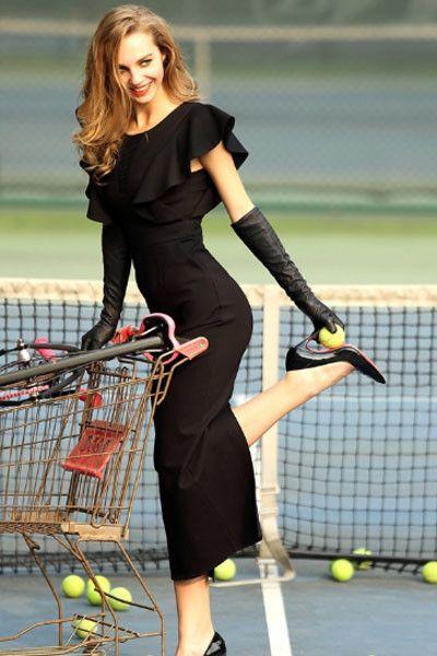 10554 Ruffle Sleeves Spliced Slim Maxi Dress