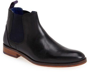 $250, Ted Baker London Camroon Chelsea Boot. Sold by Nordstrom. Click for more info: https://lookastic.com/men/shop_items/197726/redirect