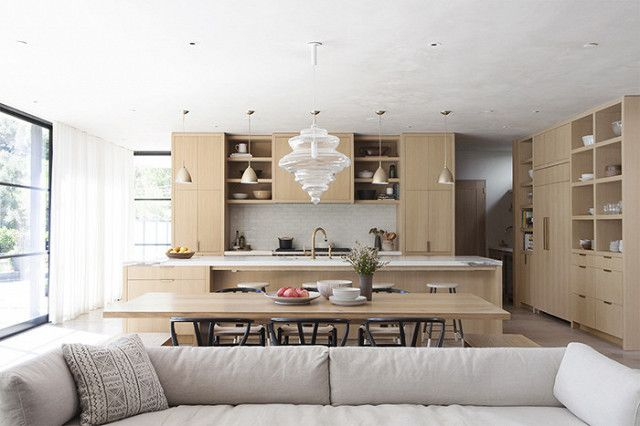 This elegant tone-on-tone kitchen by Los Angeles–based design firm DISC Interiors is stunning in its subtlety. It's the home of Carly de Castro of Pressed Juicery—also a friend of Jenni...