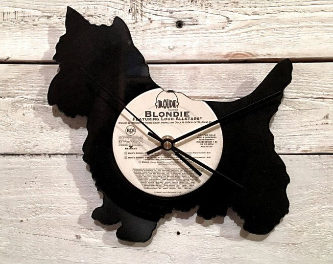 Westie Clock | Vinyl Record • Upcycled Recycled Repurposed • Dog Breeds • Westland Terrier • Shadow Art • Retro Vintage • Home Decor