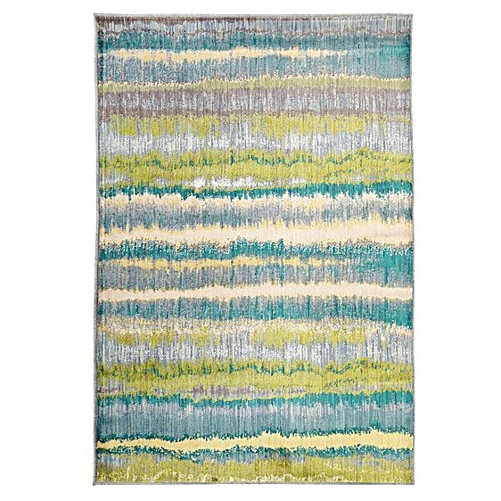 $359 Create a laid-back look in your space with the cool colours across the plush Sea Change Modern Rug from Rug Culture.