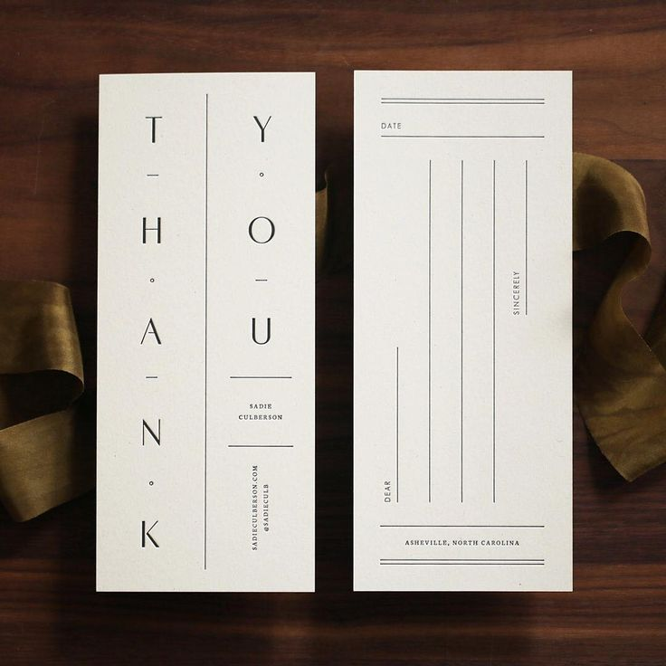 wedding thank you cards time limit%0A minimal branding brand identity  u     thank you card