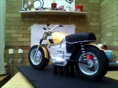 Tastycakes: How to make a Motorbike CAKE! step by step tutorial with photos on her FB page