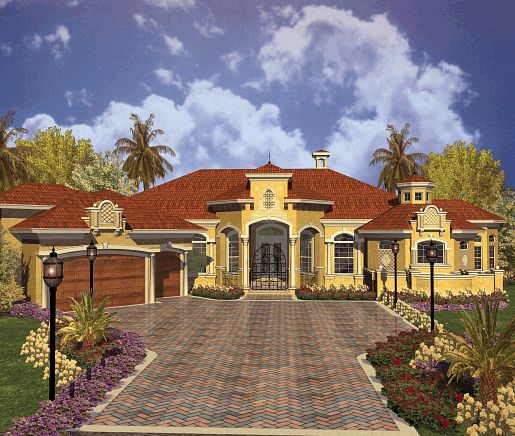 Luxury Mediterranean Style Home Plans: 72 Best House Ideas Images On Pinterest