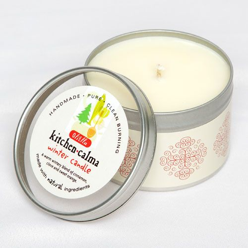 Oliella Winter Candle - A natural soya candle infused with a warm wintery blend of cinnamon, clove and sweet orange