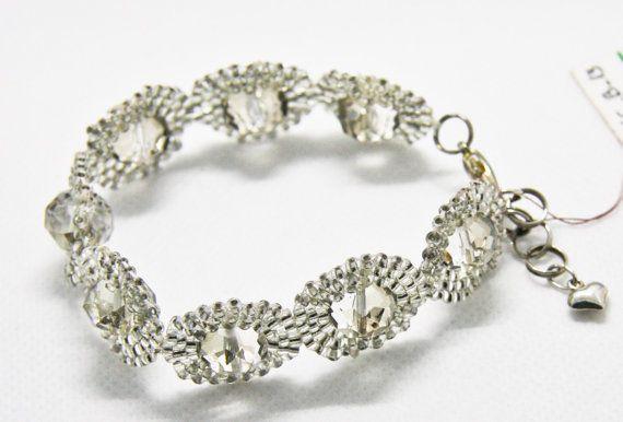 #Bridal bracelet #bridal accessory #crystal bracelet #bracelet #swarovski bracelet