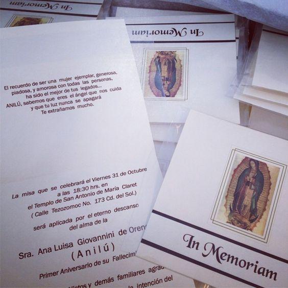 Saber que siempre están en nuestro corazón tarjeta para participar misa de aniversario luctuoso: