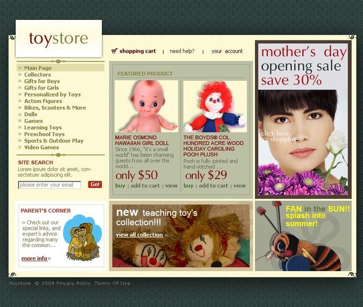 Online Shop Website Templates by Di