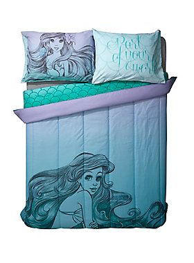 """Super soft microfiber full/queen-sized comforter from Disney's <i>The Little Mermaid</i> featuring an Ariel sketch style design.<br><br>Sheets and pillowcases not included.<br><ul><li style=""""LIST-STYLE-POSITION: outside !important; LIST-STYLE-TYPE: disc !important"""">81"""" x 86""""</li><li style=""""LIST-STYLE-POSITION: outside !important; LIST-STYLE-TYPE: disc !important"""">100% cotton</li><li style=""""LIST-STYLE-POSITION: outside !important; LIST-STYLE-TYPE: disc !important"""">Wash cold; dry low</li><li…"""