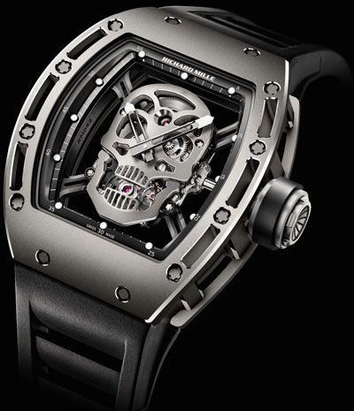 ☠ Richard Mille RM 052 Tourbillon Skull Watch ☠