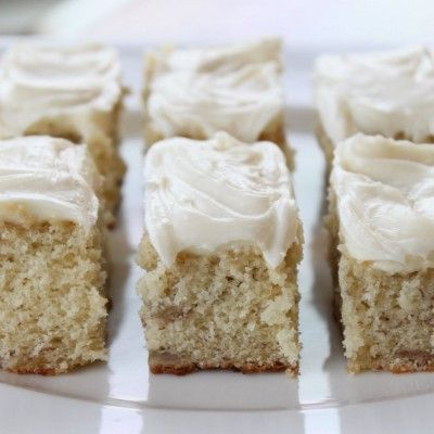 I've made these banana bars several times and people swear I put crack in them :) They are YUMMY!