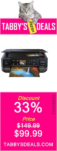 Epson Expression XP-600 Wireless Small-in-One Color Inkjet Printer, Copier, Scanner, 2-Sided Duplex. Prints from Tablet/Smartphone. AirPrint Compatible (C11CC47201) $99.99