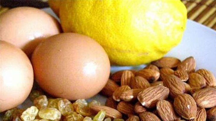 Lămâie, ouă, aline, stafide