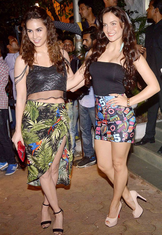 Lauren Gottlieb and Elli Avram at the 'ABCD 2' success bash. #Bollywood #Fashion #Style #Beauty #Hot #Sexy
