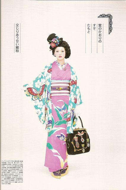 Kimono-hime issue 9. Fashion shoot page 4 by Satomi Grim, via Flickr