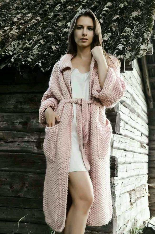 картинки модного вязаного пальто подойдет