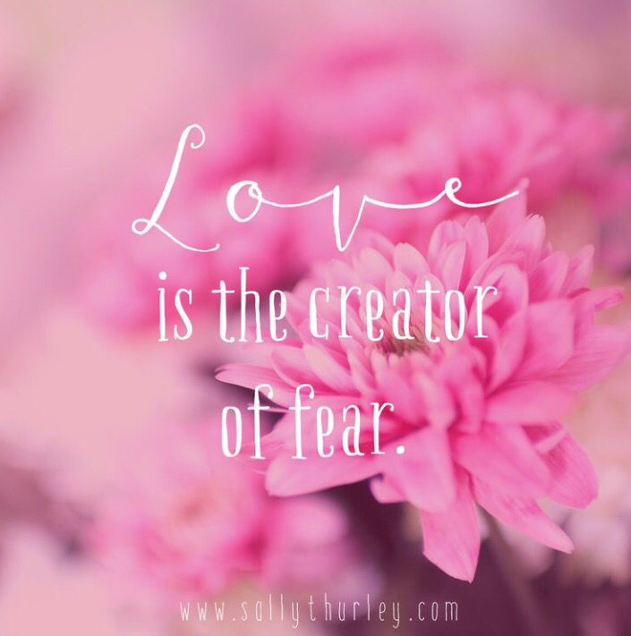Love is behind the fear.  If you can get your head around it, it is also the fear.  The key to moving past the fear is also love.  I'd love to know what you thought, please comment below and if you now anyone stuck with fear, share this light-hearted and uplifting inquiry. http://www.sallythurley.com/blog/2016/9/13/is-it-love-or-fear-or-just-love