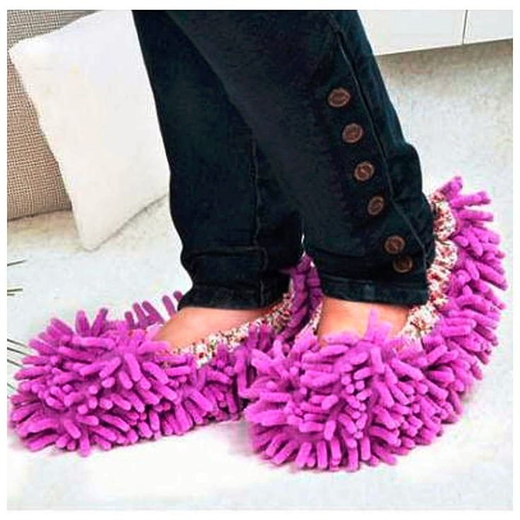 Winter Home Non-slip Mop Sweep Floor Cleaning Duster Cloth Housework Lazy Soft Slipper shoes Washable