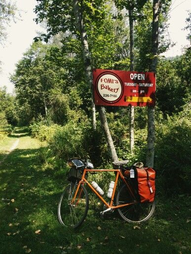 Day 7: Fomi's Bakery on the Slocan rail trail.