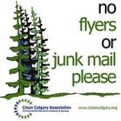 Green Calgary No Flyers Or Junk Mail Sticker Yyc Eco