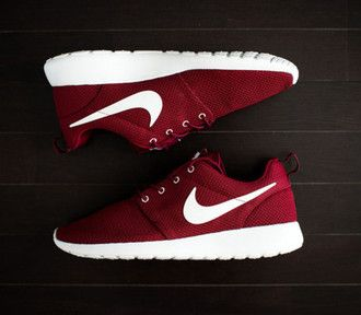 red sneakers red nike shoes nike nike shoes nike running shoes nike sneakers nike roshe run red shoes sneakers sports shoes sportswear workout