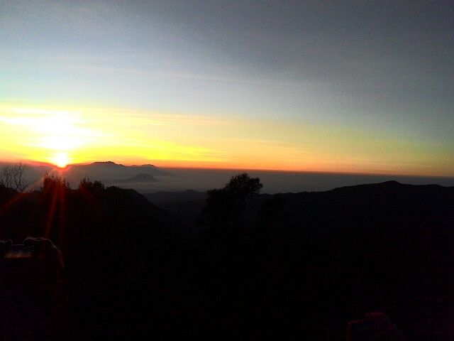Sun rise on the highest View Point Bromo