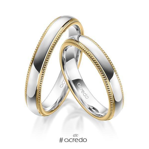 alianzas de oro blanco o en platino con oro amarillo #alianzas #boda