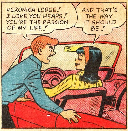 Archie Andrews and Veronica Lodge, Archie Comic Publications, Inc. https://www.pinterest.com/citygirlpideas/archie-comics/