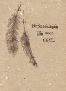 Condoleancekaart - condoleance-herinnering-herinneringen-zijn-voor-altijd