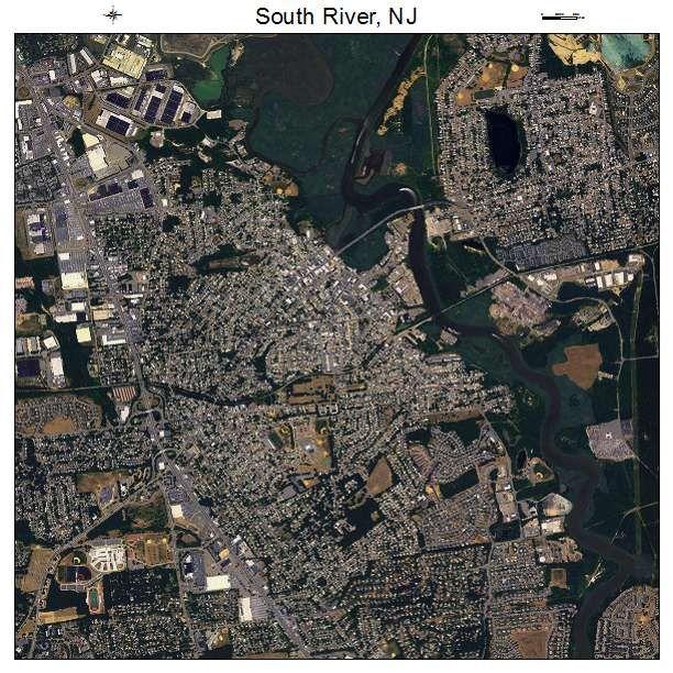 South River, NJ air photo map South river, Photo maps