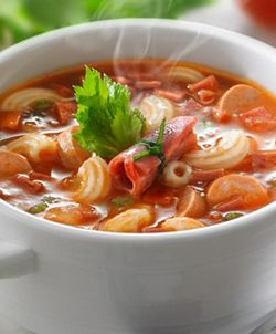 [Resep] Sup Tomat Daging Asap http://www.perutgendut.com/read/sup-tomat-daging-asap/536 #PerutGendut #Resep