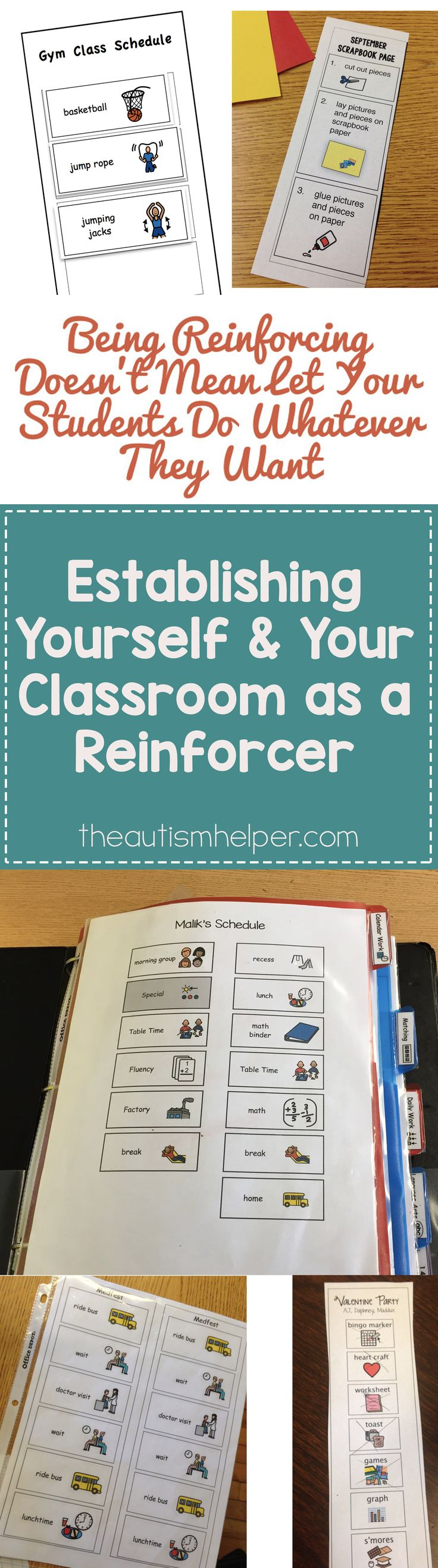 It's time to emphasize your & your classroom's role as a reinforcer. Keep on rockin' with our tips from the blog!! :D From theautismhelper.com #theautismhelper