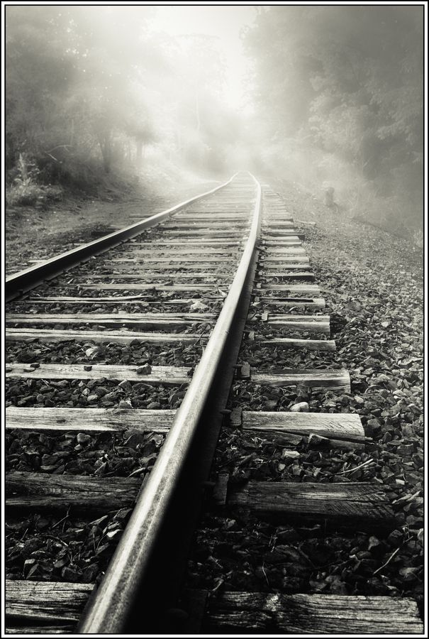 Down the Tracks by Paul Jolicoeur. As inviting as it is to face your subject face on, experiment with different angles.. Look for lines and patterns around the subject