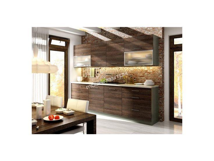 Nápaditá kuchynská zostava NEL s možnosťou výberu farebného prevedenia skriniek, korpusu či pracovnej dosky.