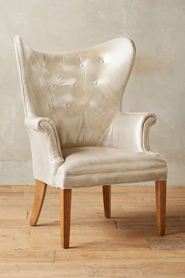 Anthropologie Leather Wingback Chair #anthrofave