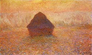 Claude Monet, Wheatstack, Sun in the Mist, 1891