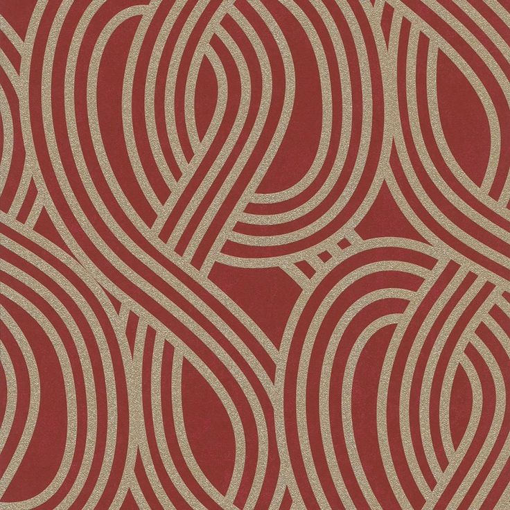 Gold and Red Geometric Glitter Wallpaper P+S Carat 13345-70