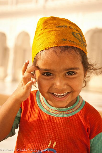 Cutie Pie. Punjab, India by viwehei  Indian people are so beautiful!