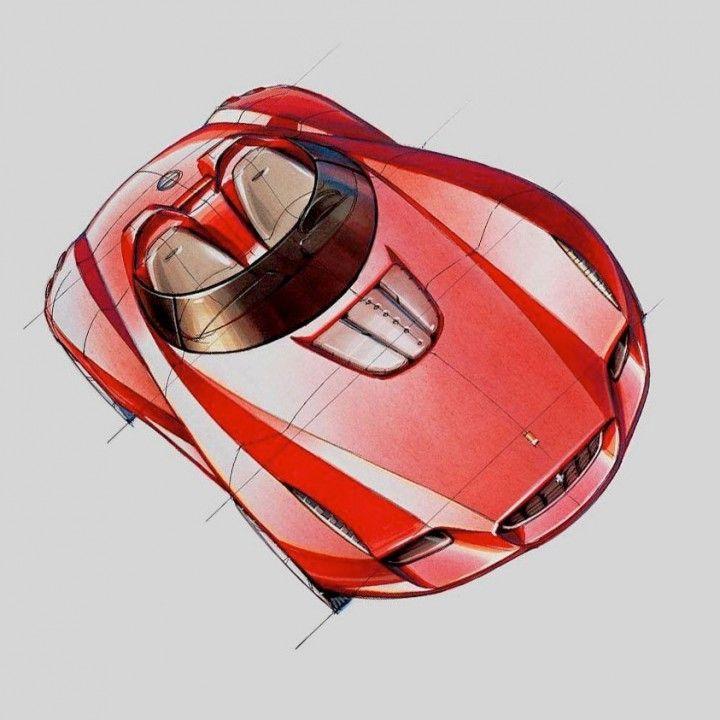 Pininfarina Ferrari Rossa Design Sketch - Ken Okuyama (2000)