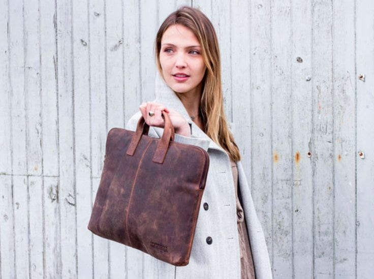 Our leather laptop bag for women is thoughtfully designed for professionals looking for a light weight stylish leather bag for their laptop, files and documents. #leather #laptopbag #giftideas