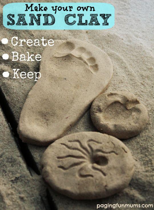 Make your own Sand Clay - Create, Bake & Keep!