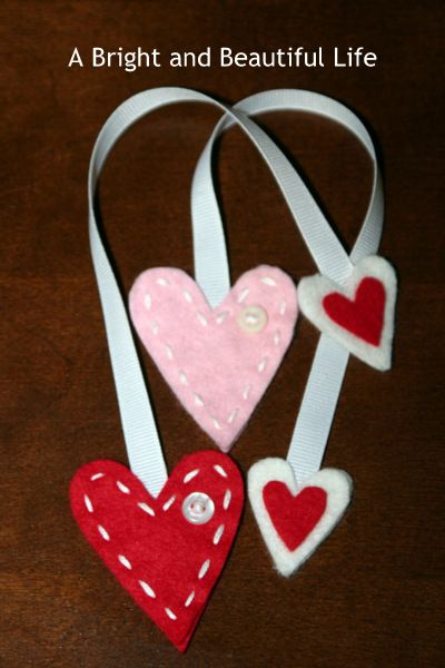 Heart Felt & Ribbon Bookmarks