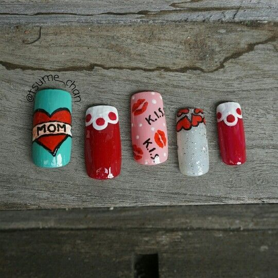 Mother's Day Nail Art.