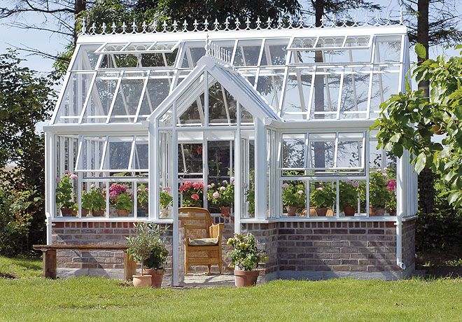 beautiful english greenhouse