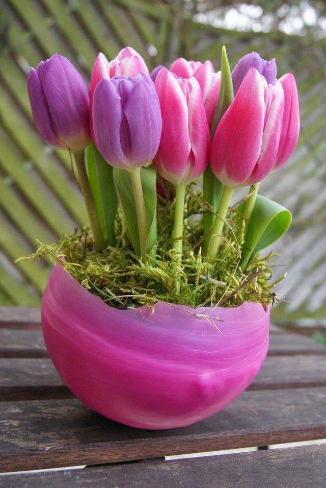 Filz und Garten: Tischdeko aus Wachs - Friday Flowerday