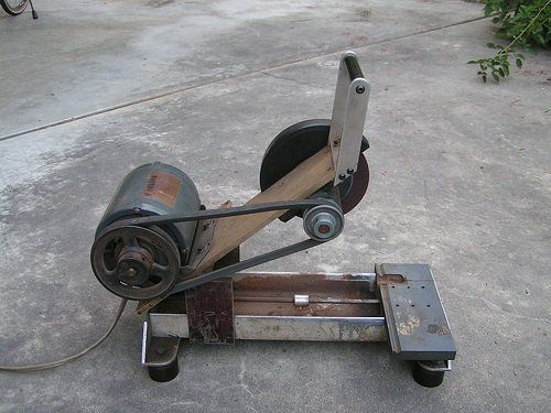 "Wouter writes - ""Home made metal cutting saw. No welding required. My wife's grandfather made lots of his own tools, this is another nice one. This metal c"