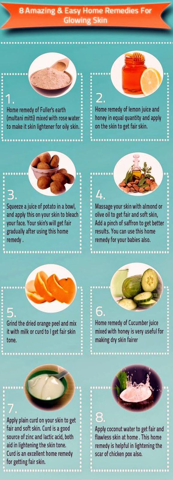 8 Amazing And Easy Home Remedies For Glowing Skin - Health Tips In Pics