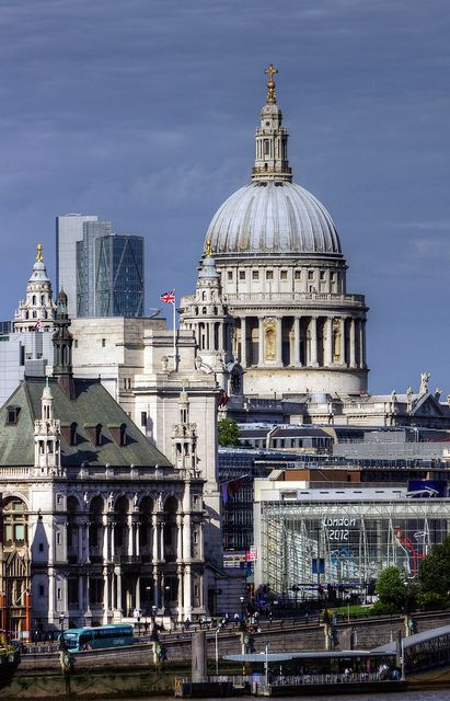 St Paul's Cathedral, London with my place of work in the background!
